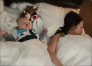 Tanguy and Mama sleeping